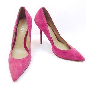 ⭐️ ALDO Suede Pink Pointy Toe Pumps Size 7